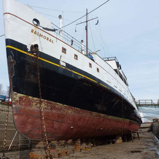 MV Balmoral in Dry Dock