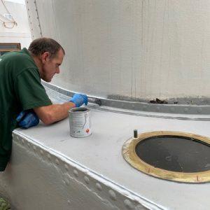 Neil O - finishing touches to engine casing