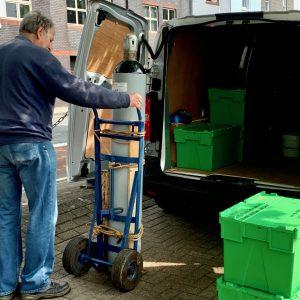 Nitrogen Bottle is on its way for testing.