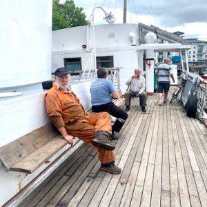 Resting on deck