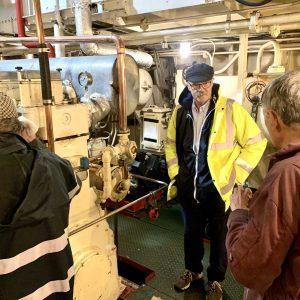 Trustee John Thomas visits
